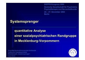 Systemsprenger - Sozialpsychiatrie Mecklenburg Vorpommern
