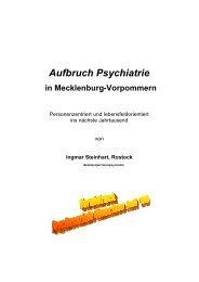 Aufbruch Psychiatrie - Sozialpsychiatrie Mecklenburg Vorpommern