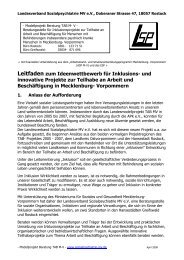 Ideenwettbewerb - Sozialpsychiatrie Mecklenburg Vorpommern