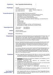 Integration NB GmbH, 2 Projekte - Sozialpsychiatrie Mecklenburg ...