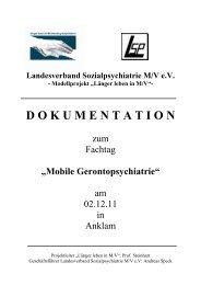 Dokumentation zum Fachtag - Sozialpsychiatrie Mecklenburg ...