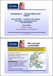 Wer und was ist EUFAMI? - Sozialpsychiatrie Oberpfalz