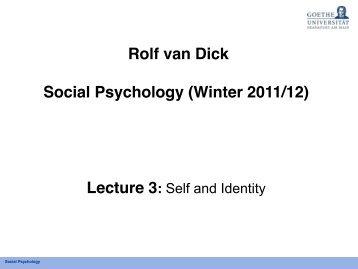 self - Sozialpsychologie