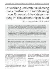 Entwicklung und erste Validierung zweier Instrumente zur Erfassung ...