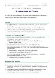 Gruppenprozesse und Führung - Sozialpsychologie