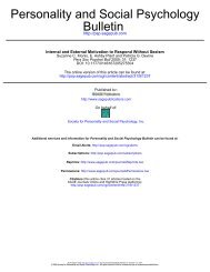 Bulletin Personality and Social Psychology - Sozialpsychologie