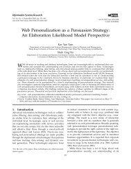 Web Personalization as a Persuasion Strategy - Sozialpsychologie