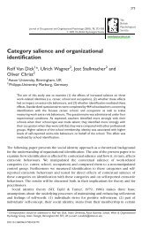 Category salience and organizational identification