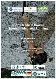 Sports Medical Course Sportclimbing and Running - SozialStiftung ...
