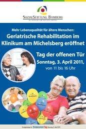 Geriatrische Rehabilitation im Klinikum am Michelsberg eröffnet Tag ...