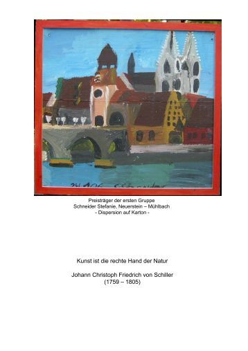 Kunst ist die rechte Hand der Natur Johann Christoph Friedrich von ...