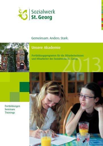 Fortbildungsprogramm 2013 (PDF) - Sozialwerk St. Georg