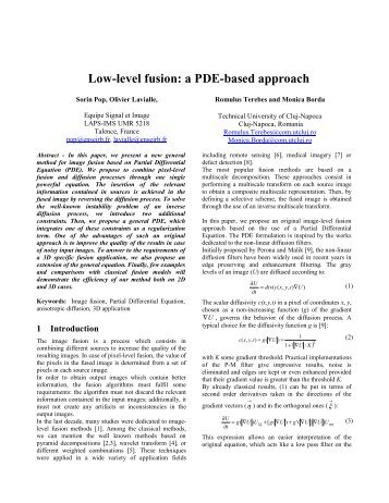 Low-level fusion: a PDE-based approach - ISIF