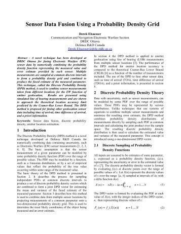 Sensor Data Fusion Using a Probability Density Grid - ISIF