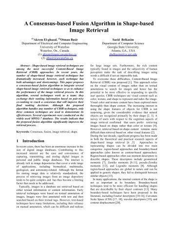 A Consensus-based Fusion Algorithm in Shape-based Image ... - ISIF
