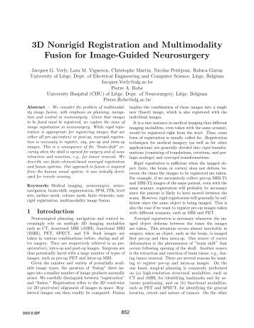 3D Nonrigid Registration and Multimodality Fusion for Image ... - ISIF