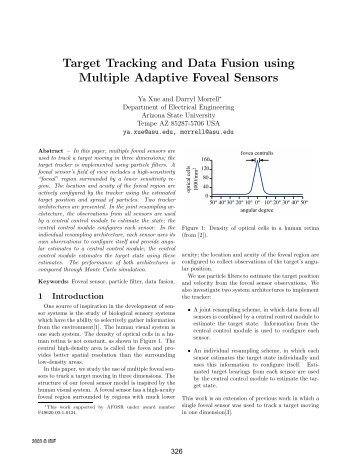 Target Tracking and Data Fusion using Multiple Adaptive Foveal - ISIF