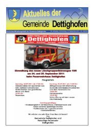 Donnerstag, 15. September 2011 - Gemeinde Dettighofen
