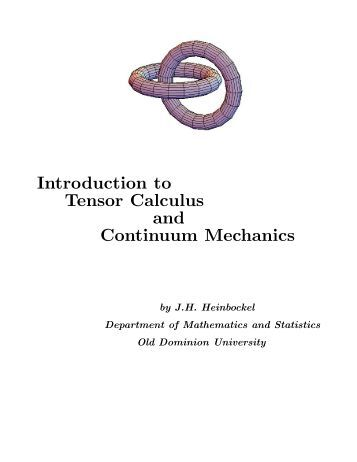 Tensor Calculus (Heinbockel 373). - Index of