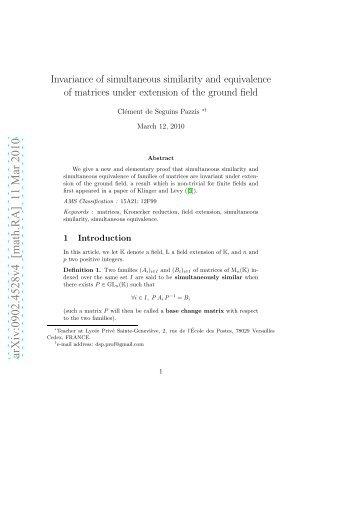 arXiv:0902.4528v4 [math.RA] 11 Mar 2010 - Index of