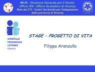 Stage - formazione e orientamento - Sportello Provinciale Autismo