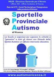 Sportello Provinciale Autismo - Vicenza – Ufficio Scolastico Territoriale
