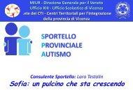 Presentazione di Testolin Lara - Sportello Provinciale Autismo