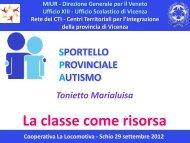 Presentazione di Tonietto Marialuisa - Sportello Provinciale Autismo