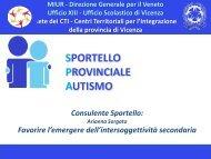 Presentazione di Sorgato Arianna - Sportello Provinciale Autismo