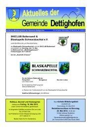 SKICLUB Baltersweil & Blaskapelle ... - Gemeinde Dettighofen