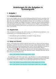 Anleitungen f ¨ur die Aufgaben in Echtzeitgrafik
