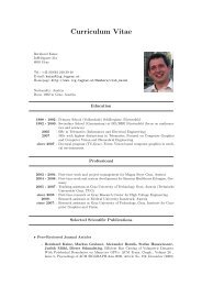Curriculum Vitae - Graz University of Technology
