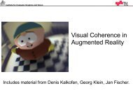 Visual Coherence in AR - Institute for Computer Graphics and Vision