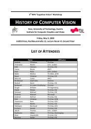 history of computer vision - Institute for Computer Graphics and ...