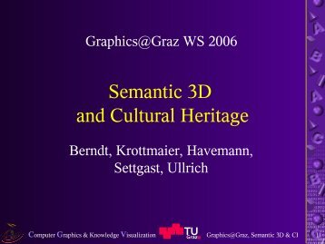 talk slides (PDF) - Institute for Computer Graphics and Vision