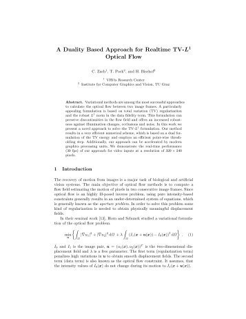 A Duality Based Approach for Realtime TV-L1 Optical Flow