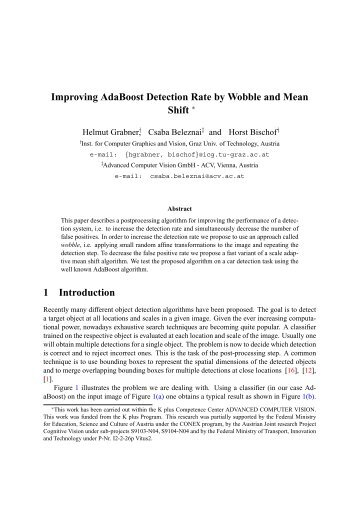 Improving AdaBoost Detection Rate by Wobble and ... - ResearchGate