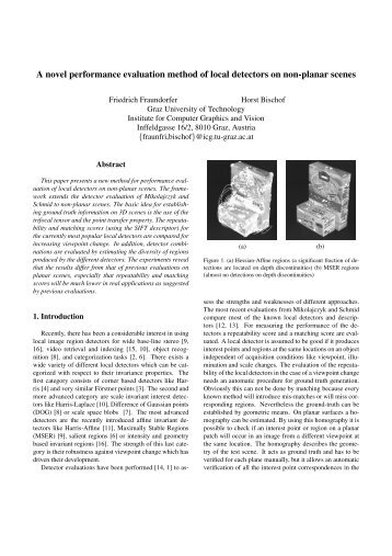 A novel performance evaluation method of local detectors on non ...