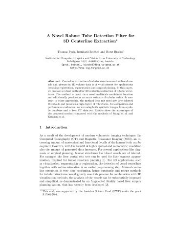 A Novel Robust Tube Detection Filter for 3D Centerline Extraction*