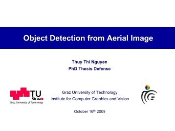 Object Detection from Aerial Image - Institute for Computer Graphics ...