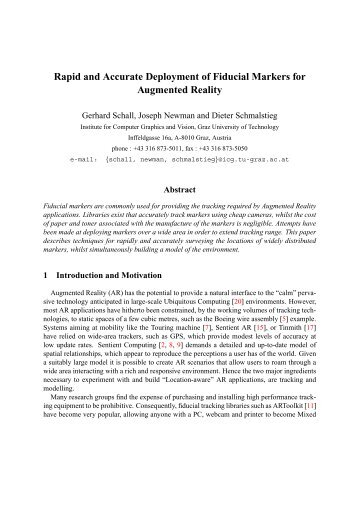 Rapid and Accurate Deployment of Fiducial Markers for Augmented ...