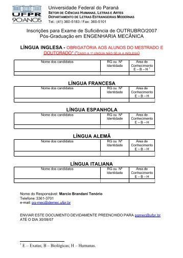 abertas até 30/08/07 as inscrições ao exame de suficiência em ...