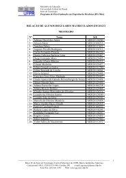RELAÇÃO DE ALUNOS REGULARES MATRICULADOS EM 2012/3 ...