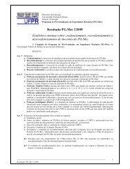 Resolução PG-Mec 2/2009 Estabelece normas sobre ...
