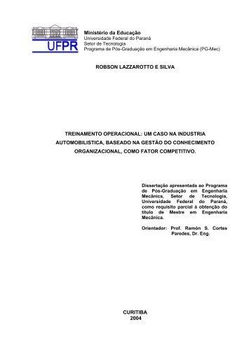 Treinamento operacional - PG-Mec Programa de Pós-Graduação ...