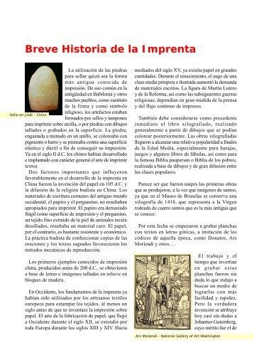 La imprenta y su historia - Proveedora de las artes graficas