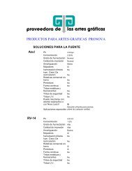 productos para artes graficas pronova - Proveedora de las artes ...