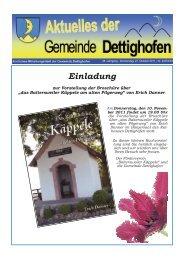 Einladung - Gemeinde Dettighofen