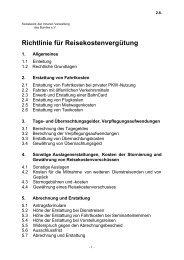 2.8 Richtlinie für Reisekostenabrechnungen - beim Sozialwerk der ...