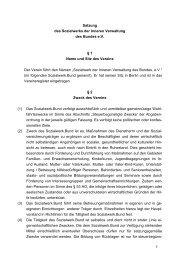 Satzung - beim Sozialwerk der Inneren Verwaltung des Bundes eV